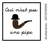 rene magritte  this is not a... | Shutterstock .eps vector #1872935095