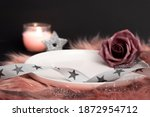 Empty Plate  Ribbon With Stars  ...