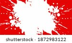 white paint spills onto red... | Shutterstock .eps vector #1872983122