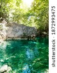 Natural Turquoise Pool In The...