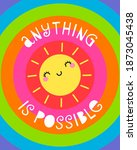 """""""anything is possible"""" text...   Shutterstock .eps vector #1873045438"""