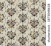 seamless floral sepia grunge...   Shutterstock . vector #1873048618