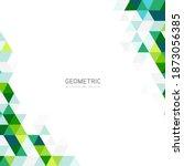 modern green abstract geometric ... | Shutterstock .eps vector #1873056385