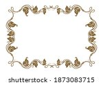 vintage ornament frame and... | Shutterstock .eps vector #1873083715