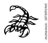 scorpion mascot logo silhouette ...   Shutterstock .eps vector #1873091965