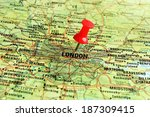 Close Up Of London On A Map...