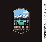 emblem patch logo illustration... | Shutterstock .eps vector #1873117675