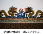 dragon statue on china temple... | Shutterstock . vector #1873141918