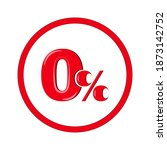 0 percent button icon  0  for...   Shutterstock .eps vector #1873142752