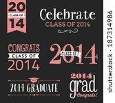 class of 2014 vector set  ... | Shutterstock .eps vector #187314986