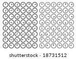 vector silhouettes of dials...   Shutterstock .eps vector #18731512