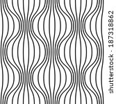seamless pattern with wavy... | Shutterstock . vector #187318862