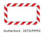 candy cane striped frame or... | Shutterstock .eps vector #1873199992