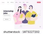medical insurance  internship... | Shutterstock .eps vector #1873227202