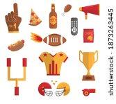 super bowl vector set. sport...   Shutterstock .eps vector #1873263445