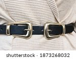 Women's Belt With Two Gold...