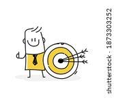 smiling business stickman next... | Shutterstock .eps vector #1873303252