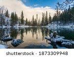 Upper Grassi Lakes In Winter...