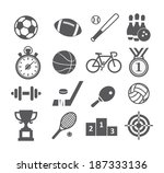 sport icons | Shutterstock . vector #187333136