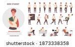 teenager school student poses...   Shutterstock .eps vector #1873338358