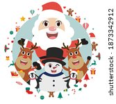 merry christmas and happy new... | Shutterstock .eps vector #1873342912