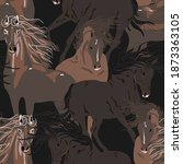 Galloping Horse Vector Seamless ...