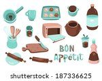 cooking icons b | Shutterstock .eps vector #187336625