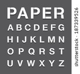 paper alphabet text | Shutterstock .eps vector #187339526