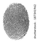 fingerprint vector | Shutterstock .eps vector #187341962