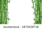 bamboo background. realistic... | Shutterstock .eps vector #1873428718