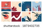 doodle banners. abstract hand... | Shutterstock .eps vector #1873432735