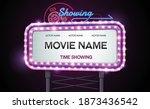 light sign billboard cinema...   Shutterstock .eps vector #1873436542