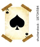 old playing card on a white... | Shutterstock . vector #18734584