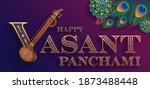 happy vasant panchami  gold...   Shutterstock .eps vector #1873488448