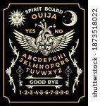 ouija board with lock heart....   Shutterstock .eps vector #1873518022