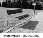 Modern Park Bench With Shadow
