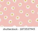 love yellow daisy calligraphy... | Shutterstock .eps vector #1873537945