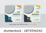school admission social media... | Shutterstock .eps vector #1873556242