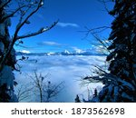 Scenic Winter View Of Mountain...