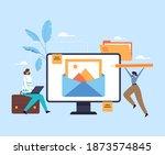 content management blogging... | Shutterstock .eps vector #1873574845