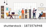 office people characters life... | Shutterstock .eps vector #1873576948
