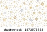 golden snowflakes background.... | Shutterstock .eps vector #1873578958