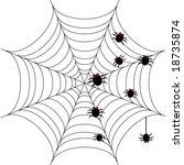 halloween background with... | Shutterstock . vector #18735874