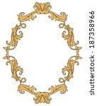 vintage ornament frame in retro ... | Shutterstock . vector #187358966