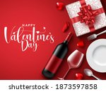 valentines date vector... | Shutterstock .eps vector #1873597858