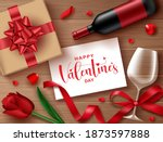 valentine's vector background... | Shutterstock .eps vector #1873597888