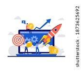 business startup  success... | Shutterstock .eps vector #1873625692
