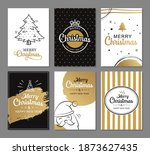 merry christmas greeting cards...   Shutterstock .eps vector #1873627435