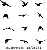 swallow silhouettes | Shutterstock .eps vector #18736381