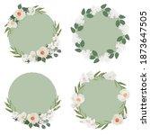 white camellia flower on green...   Shutterstock .eps vector #1873647505